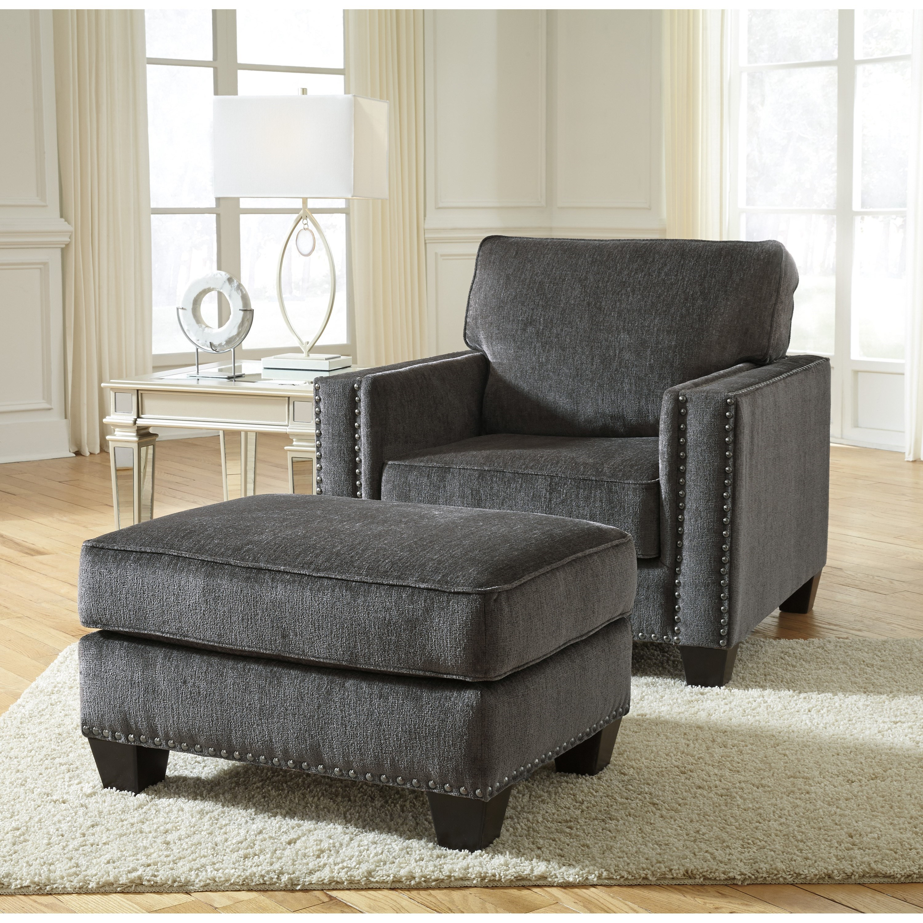 Gavril Chair and Ottoman by Benchcraft at Walker's Furniture