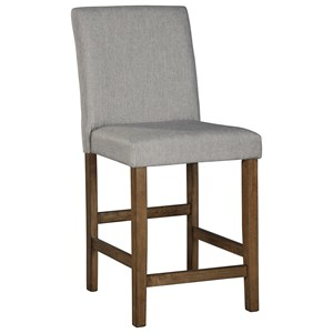 Contemporary Upholstered Counter Stool