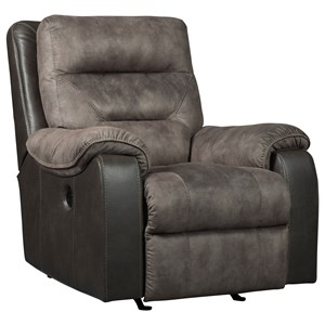 Two-Tone Power Rocker Recliner