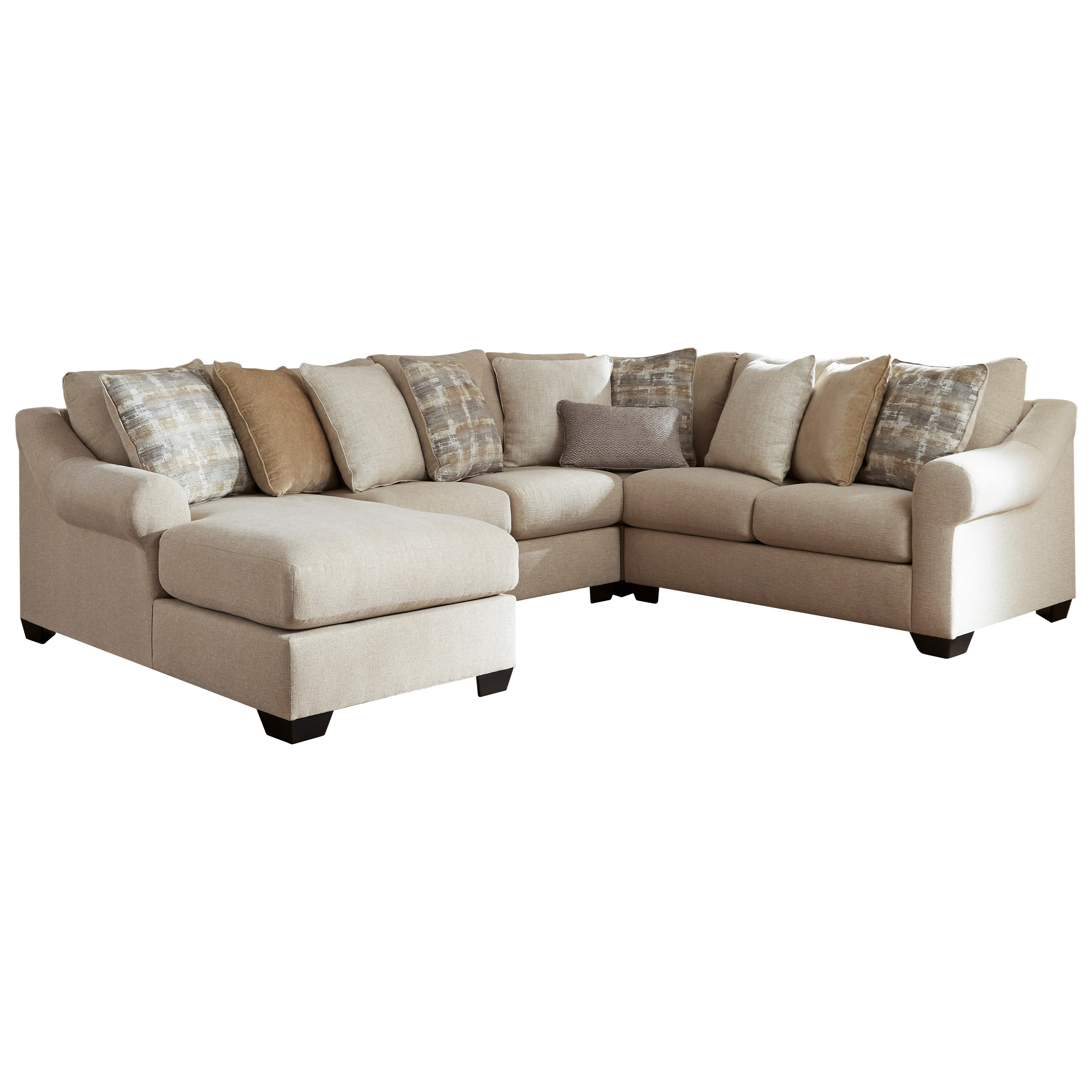 Ingleside 4-Piece Sectional with Chaise by Benchcraft at Miller Waldrop Furniture and Decor