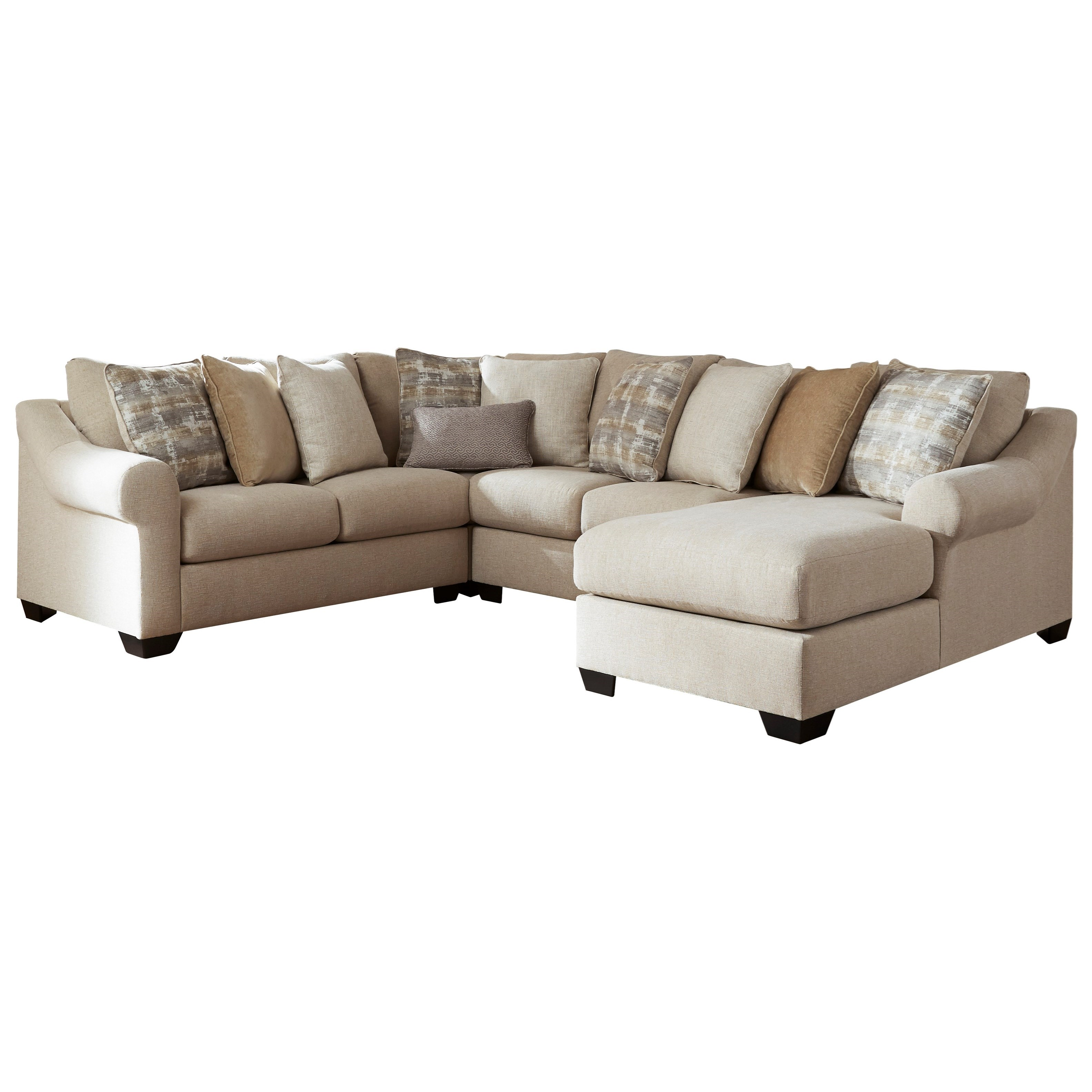 Ingleside 4-Piece Sectional with Chaise by Benchcraft at Beck's Furniture