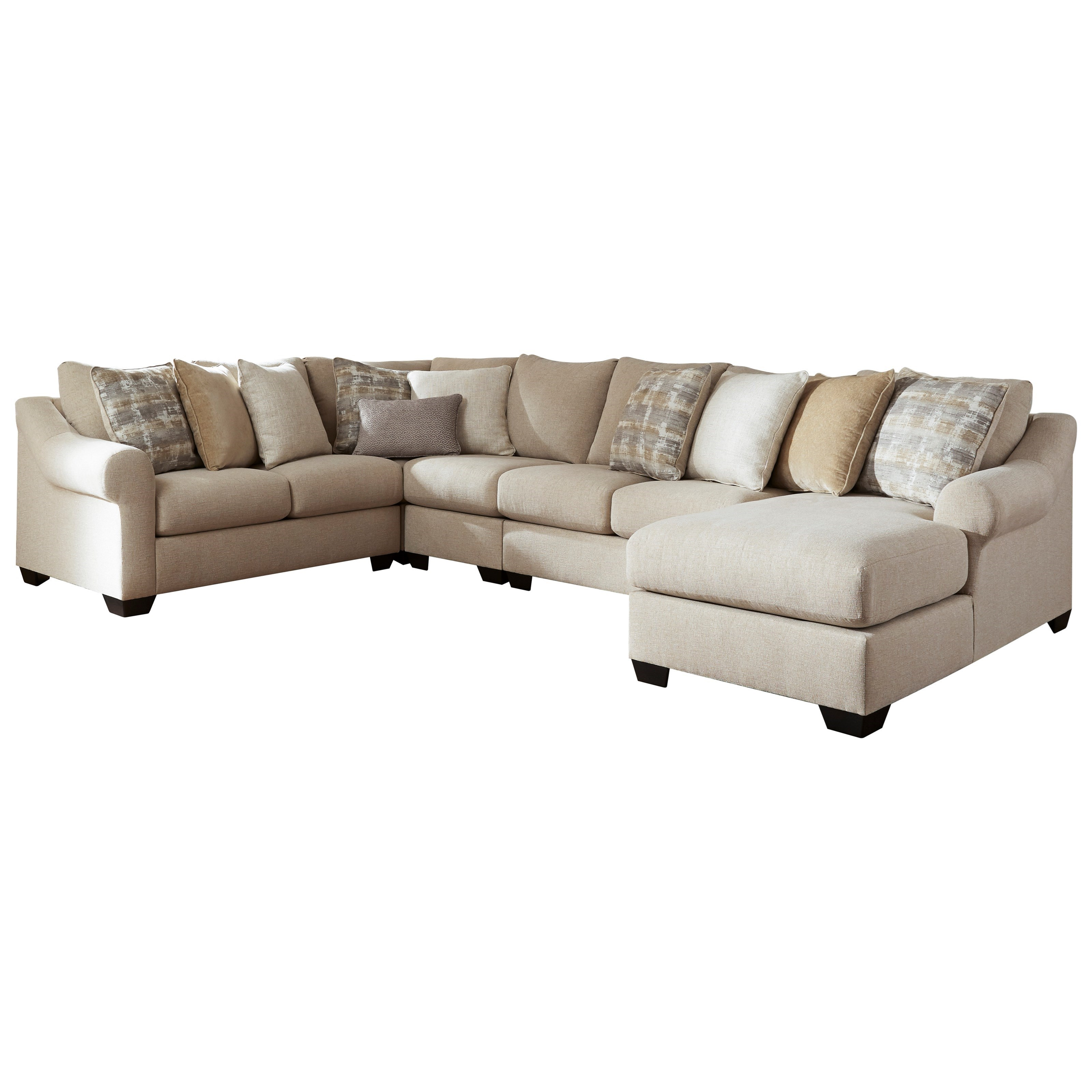 Ingleside 5-Piece Sectional with Chaise by Benchcraft at Walker's Furniture