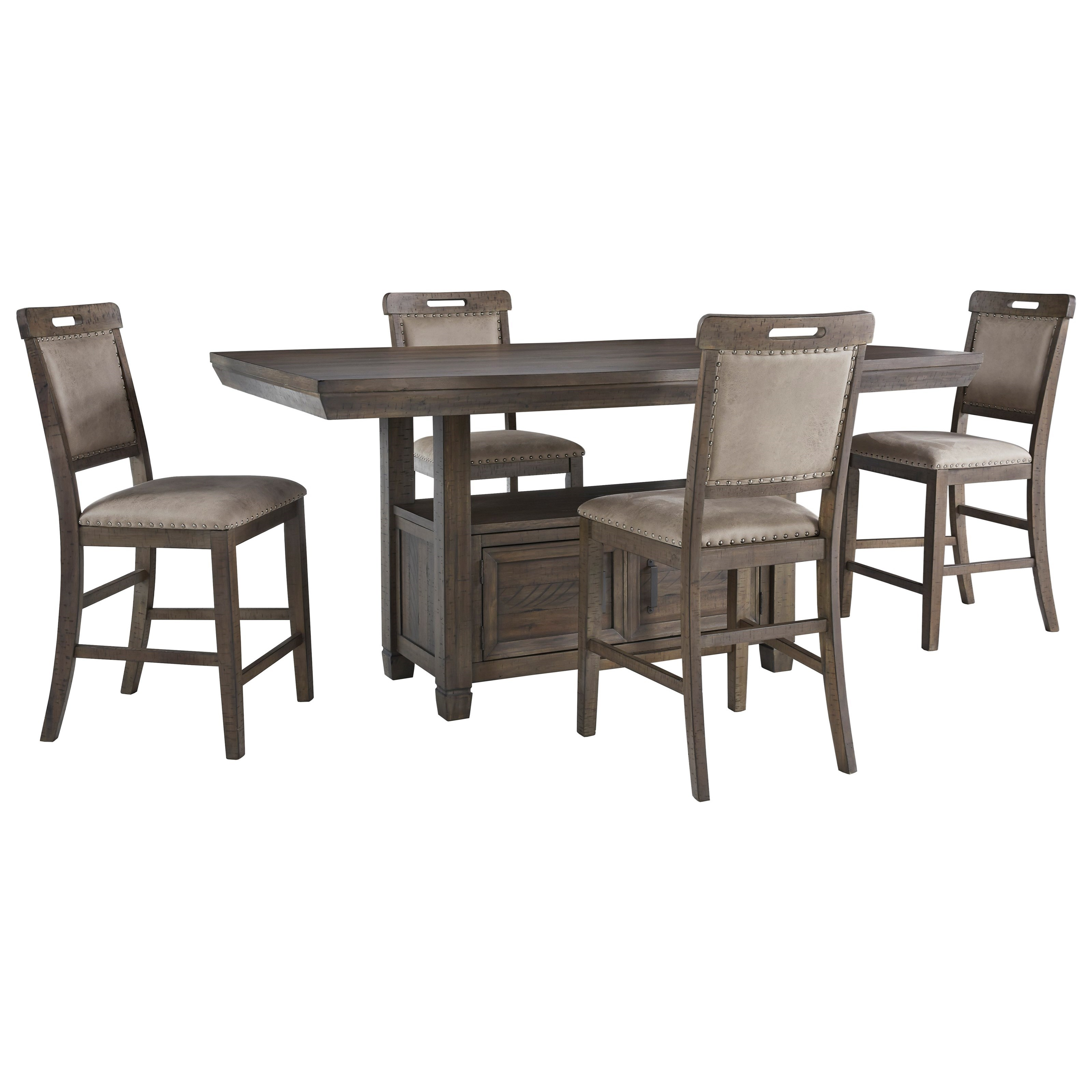 Johurst 5-Piece Counter Height Dining Set by Benchcraft at Zak's Warehouse Clearance Center