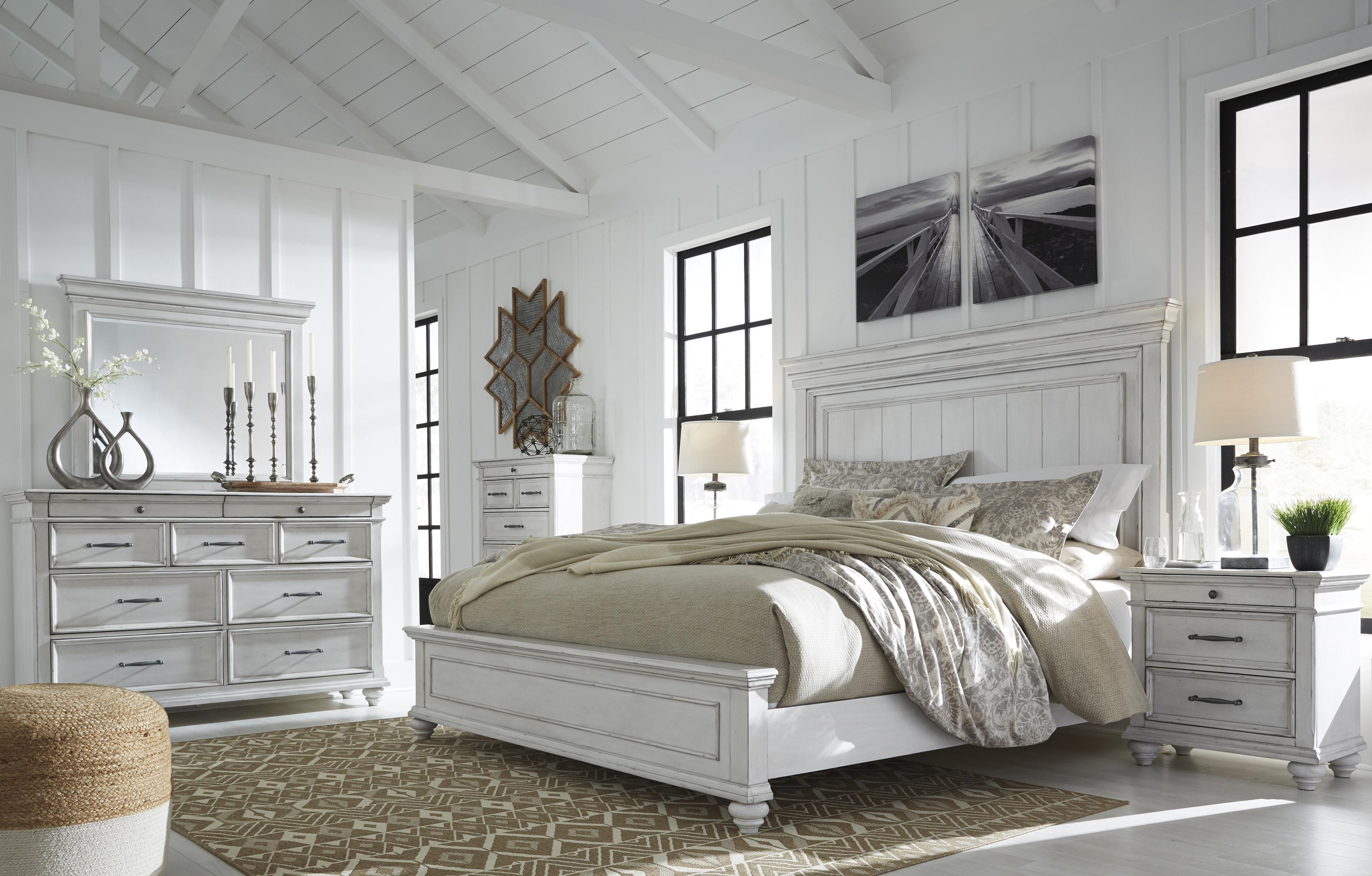 Kanwyn 5 Piece Queen Panel Queen Bedroom Set by Benchcraft at Sam Levitz Outlet