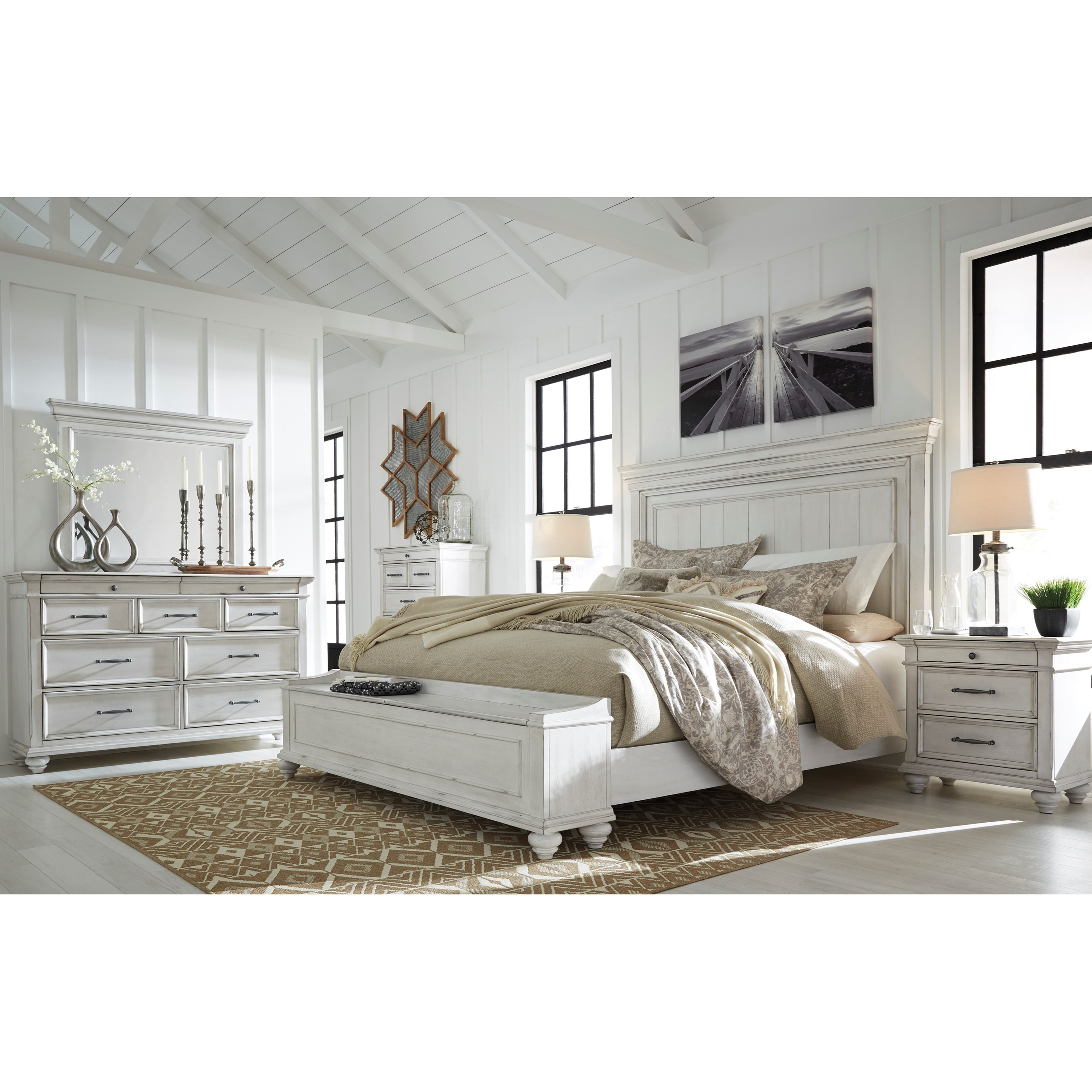 Kanwyn King Bedroom Group by Benchcraft at Houston's Yuma Furniture