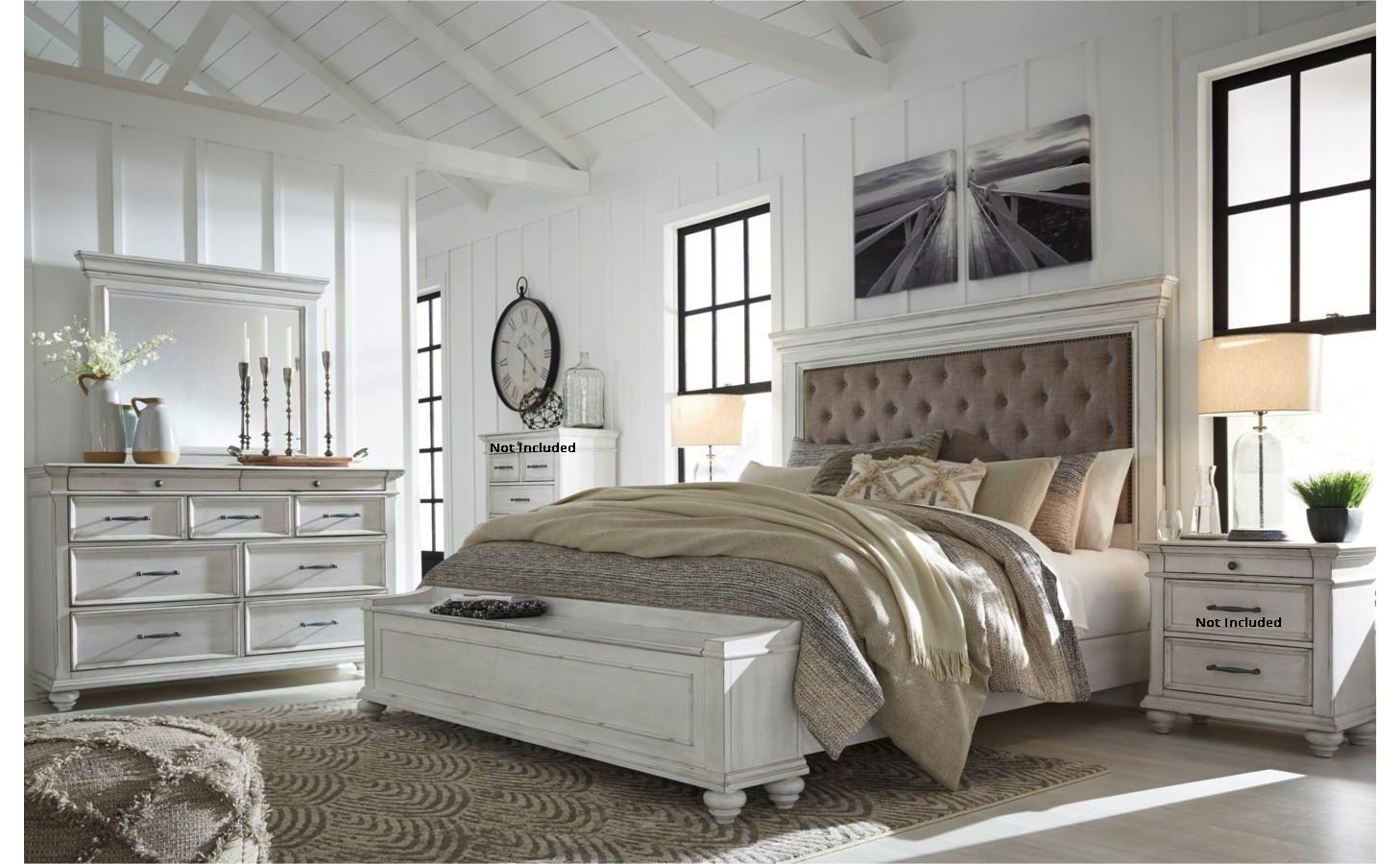 Kanwyn Queen Bedroom Group by Benchcraft at Virginia Furniture Market