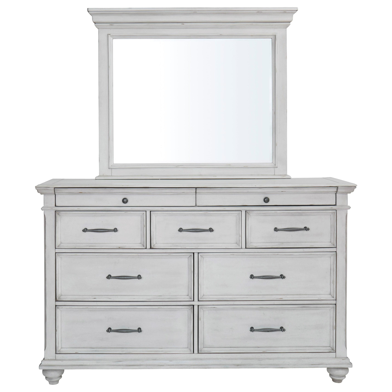 Kanwyn Dresser and Mirror Set by Benchcraft at Suburban Furniture