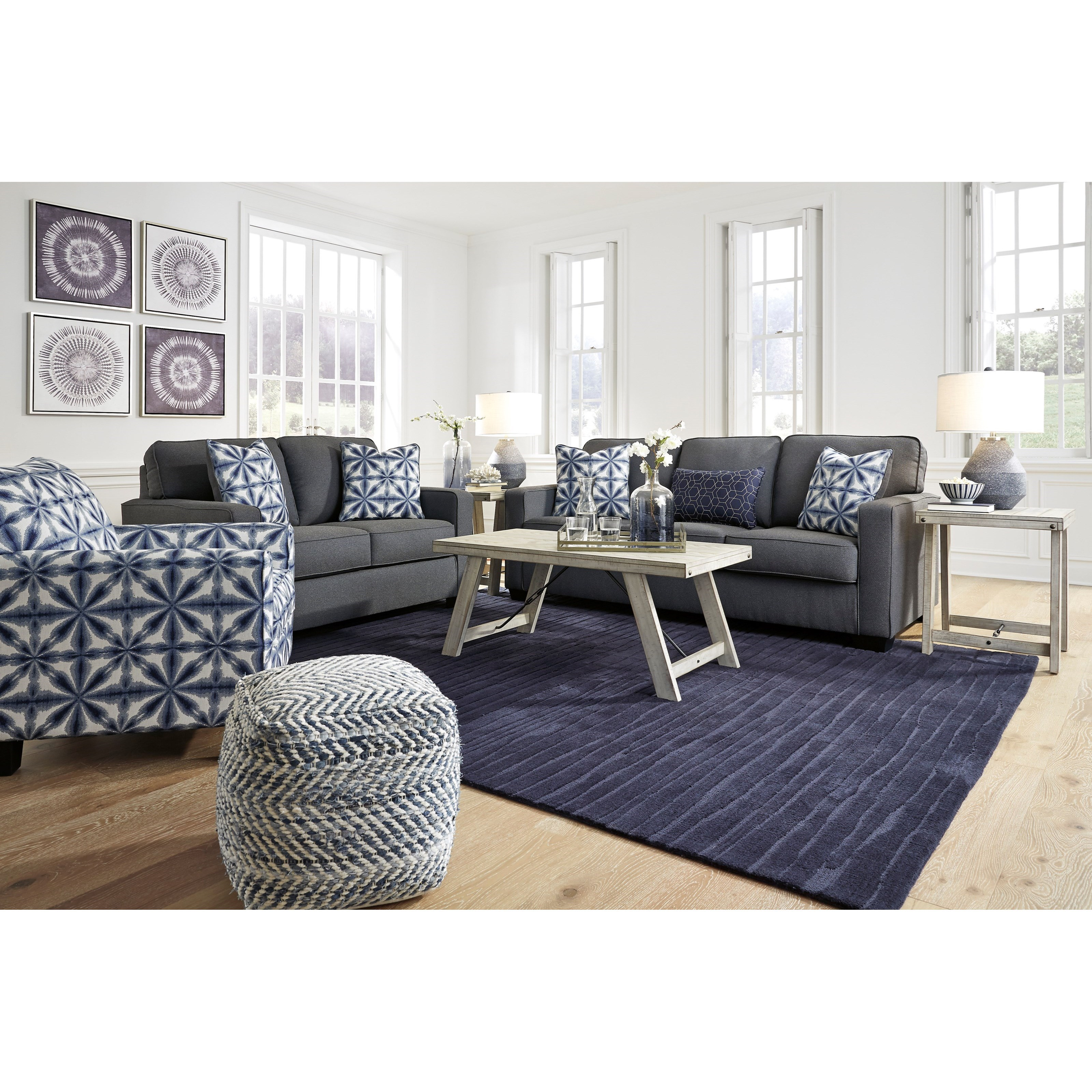 Kiessel Nuvella Living Room Group by Benchcraft at Houston's Yuma Furniture