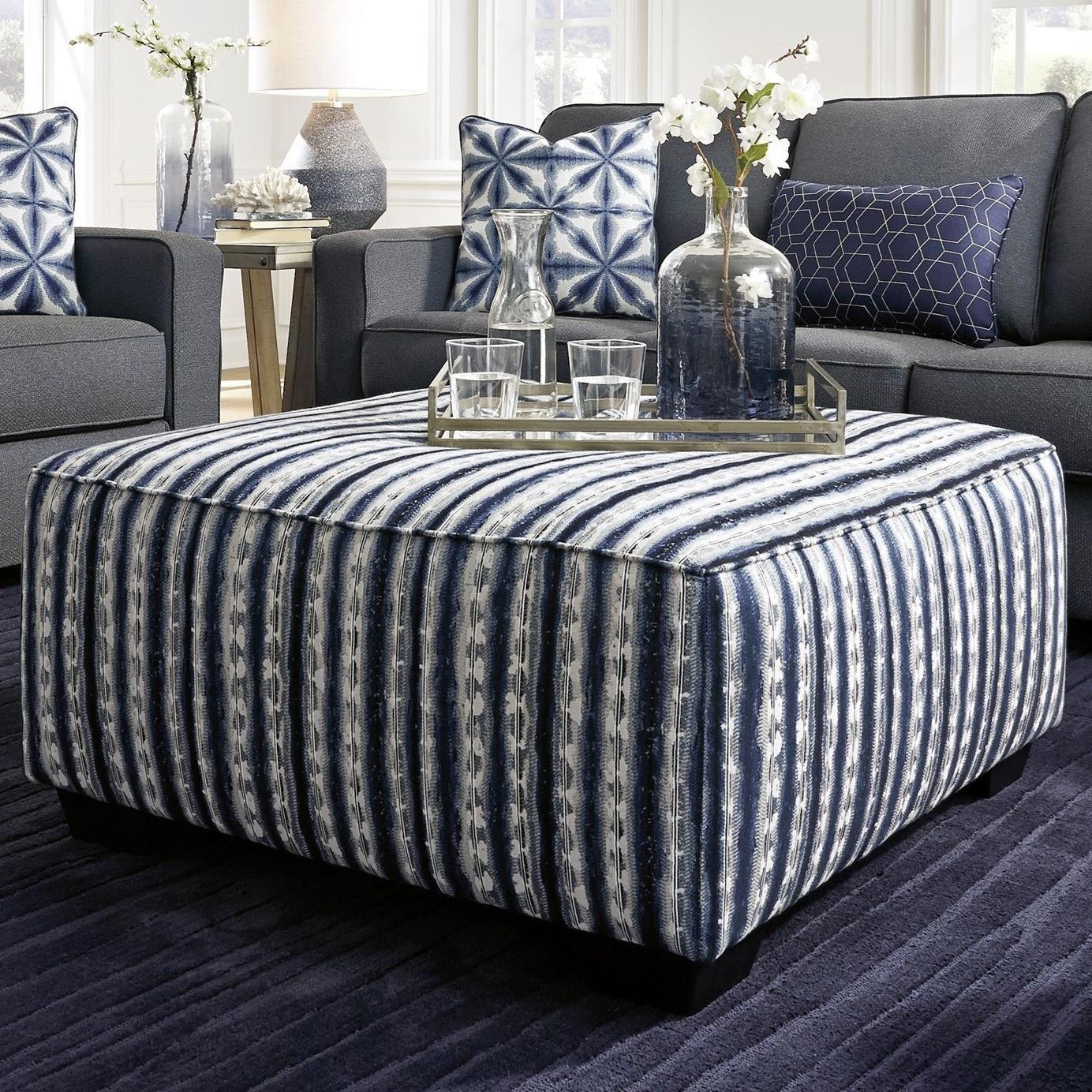Kiessel Nuvella Ottoman by Benchcraft at HomeWorld Furniture