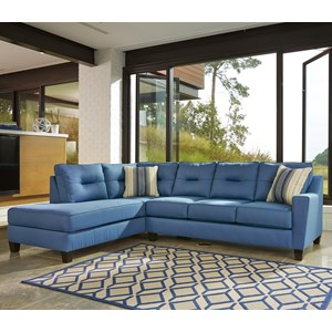 Sectional with Left Chaise in Performance Fabric