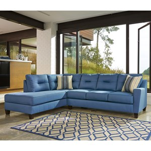Sectional with Sleeper Sofa & Left Chaise in Performance Fabric
