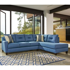 Sectional with Right Chaise in Performance Fabric