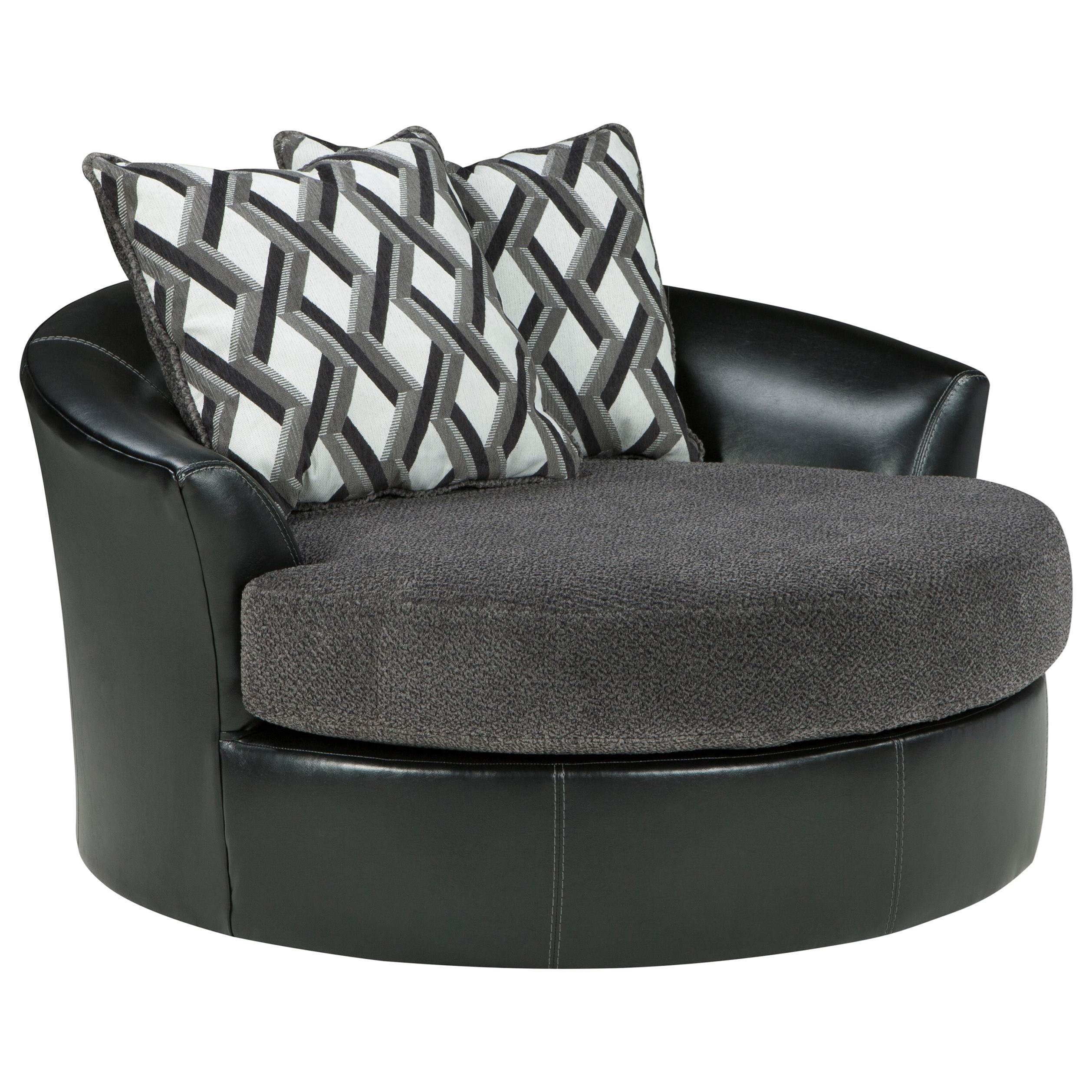 Kumasi Oversized Swivel Accent Chair by Benchcraft at Walker's Furniture