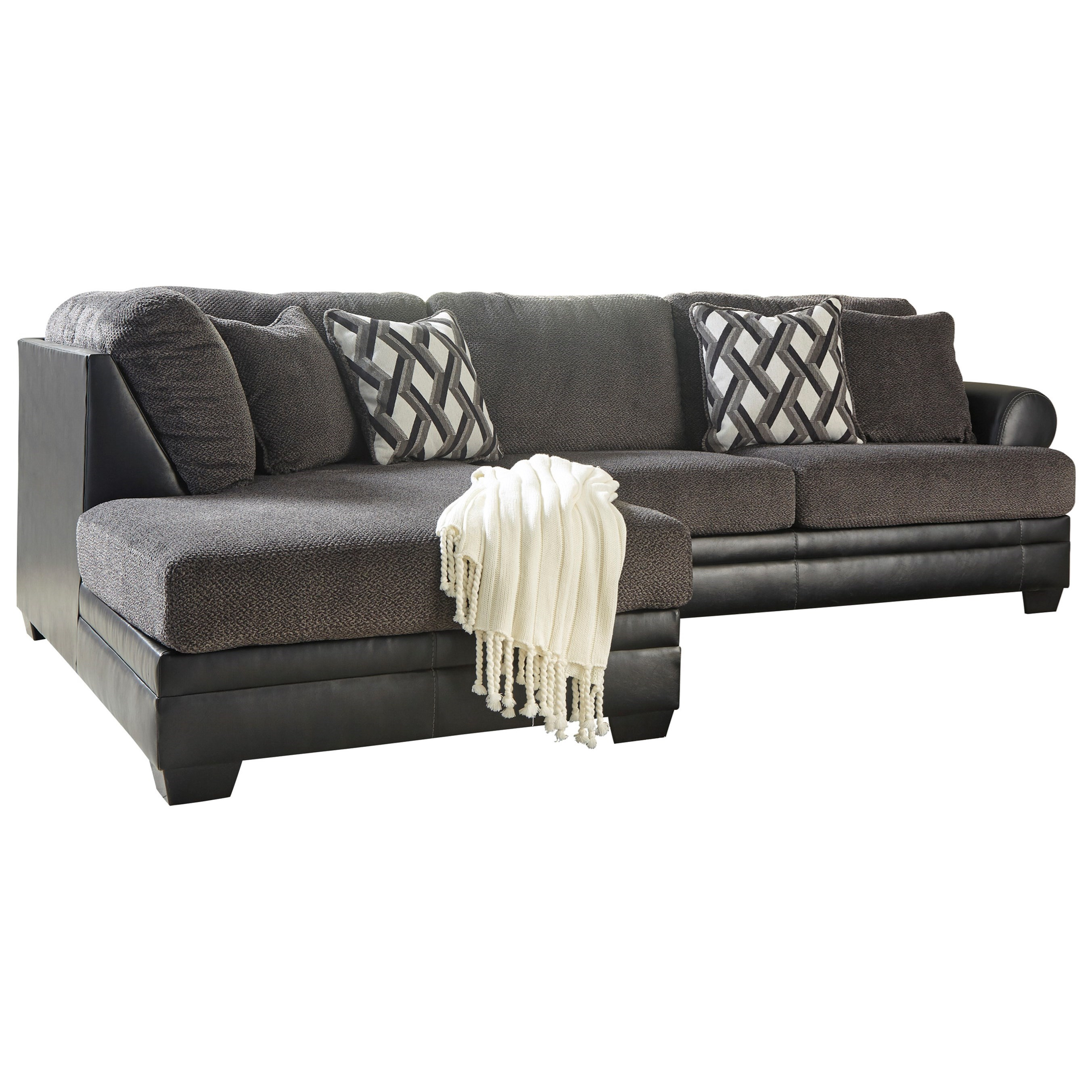 Kumasi 2-Piece Sectional with Chaise by Benchcraft at Furniture Barn