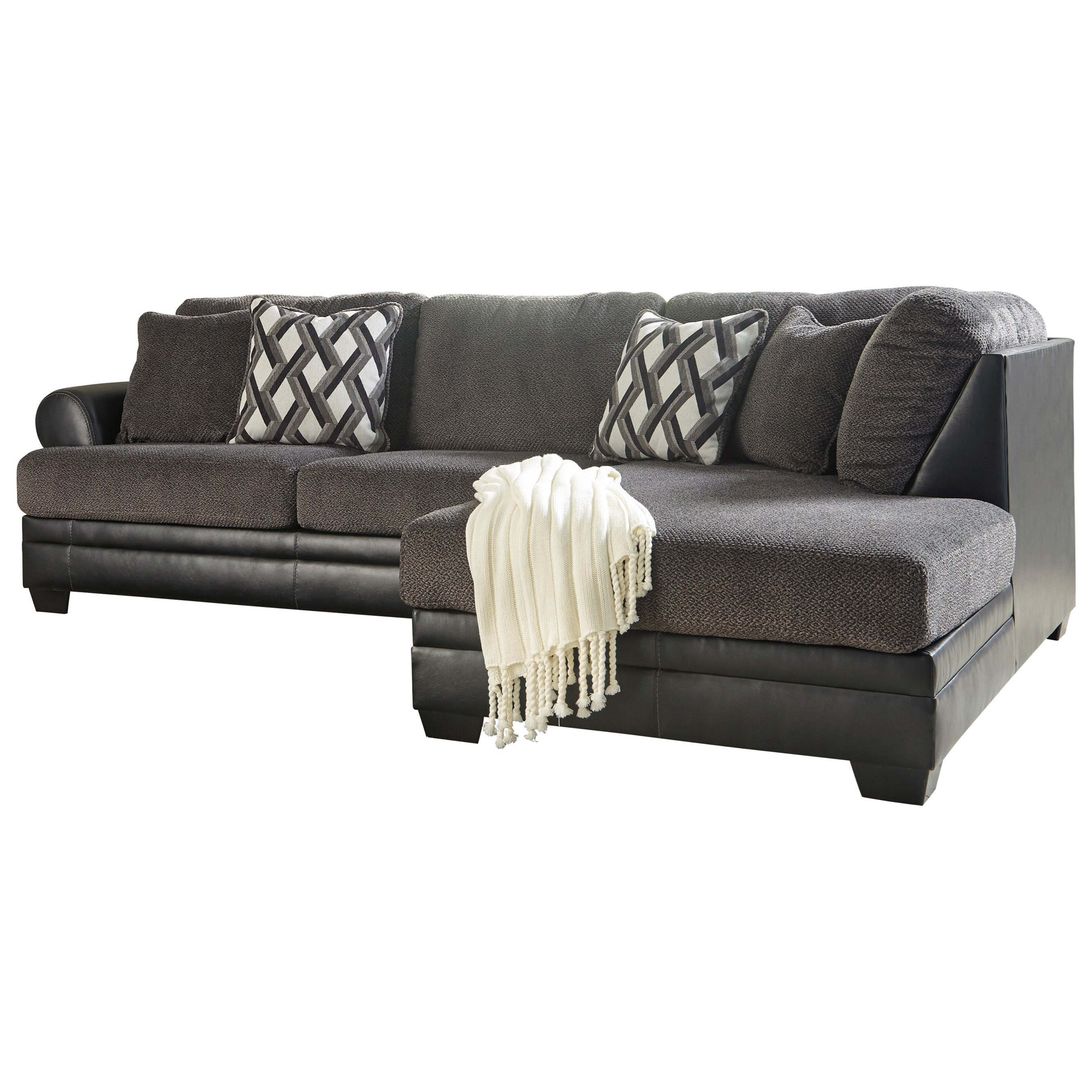 Kumasi 2-Piece Sectional with Chaise by Benchcraft at Rooms and Rest