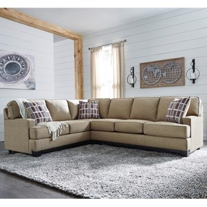Contemporary 2-Piece Sectional with Right Sofa