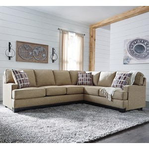 Contemporary 2-Piece Sectional with Left Sofa