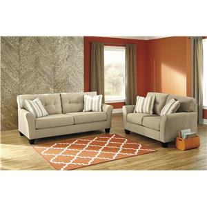 2PC Living Room Set w/ Sofa & Loveseat
