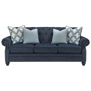 Transitional Sofa with Tufted Back