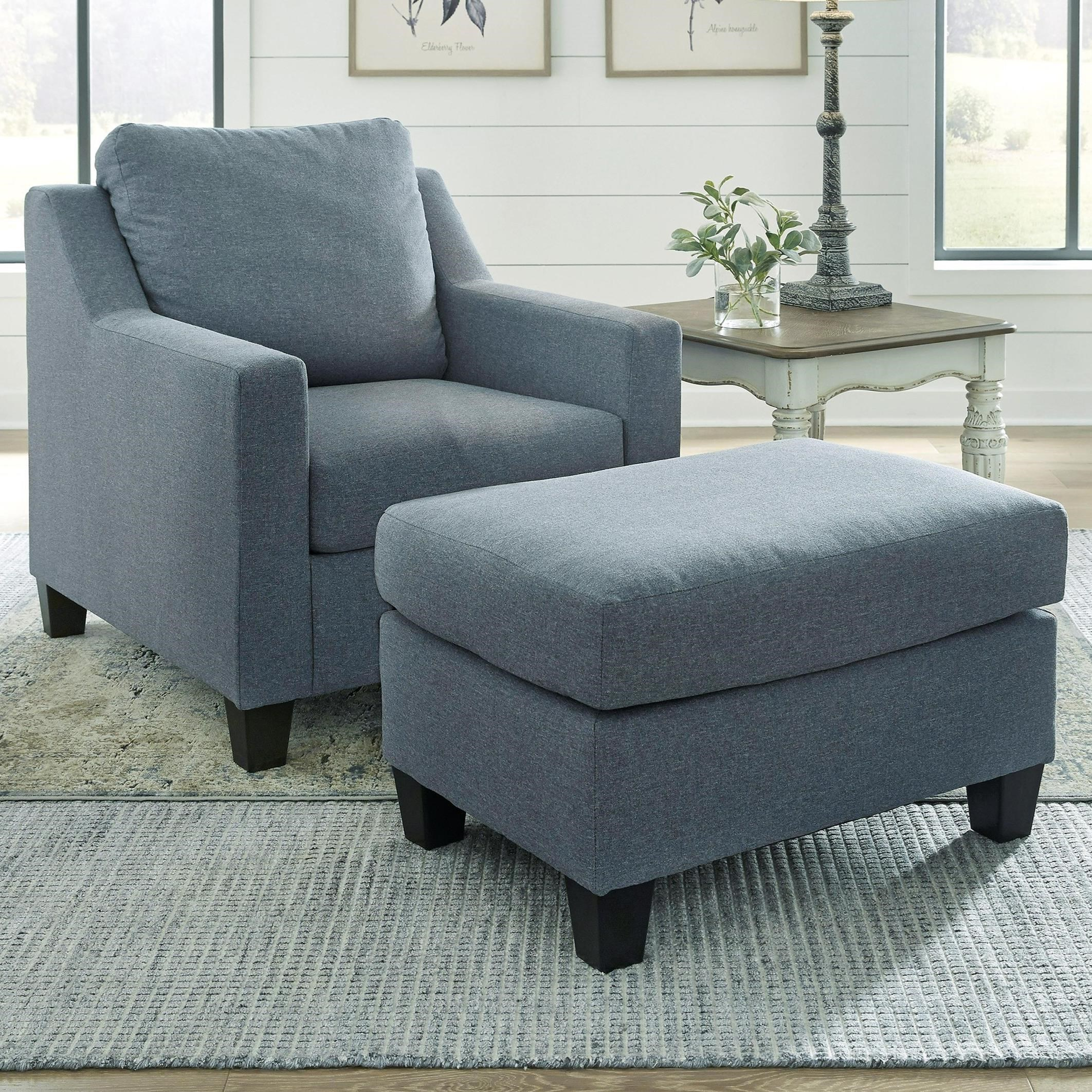 Lemly Chair & Ottoman by Benchcraft at Northeast Factory Direct