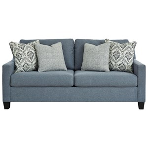 Contemporary Sofa in Blue Fabric