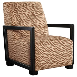Contemporary Accent Chair with Wood Arms