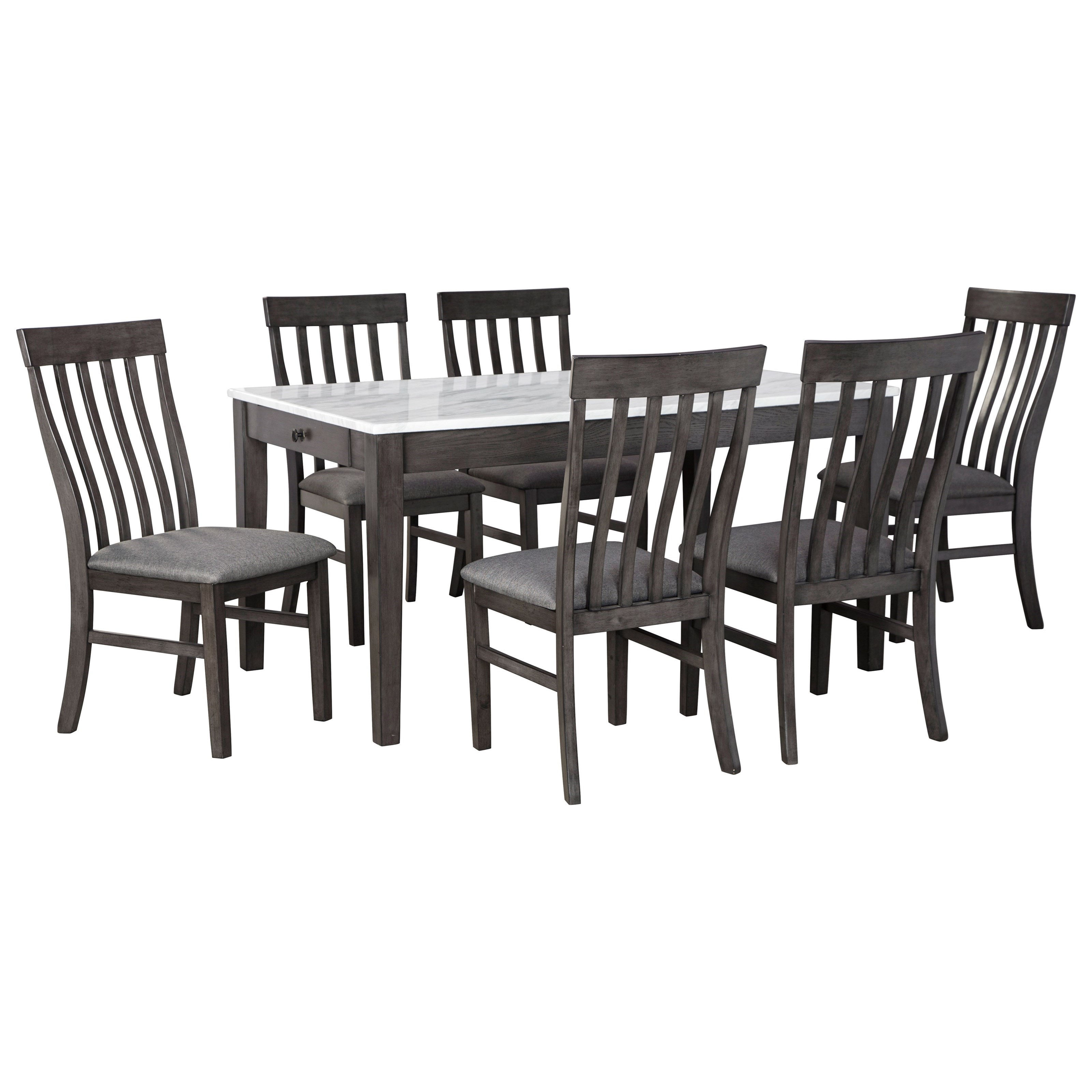 Luvoni 7-Piece Dining Set by Benchcraft at HomeWorld Furniture