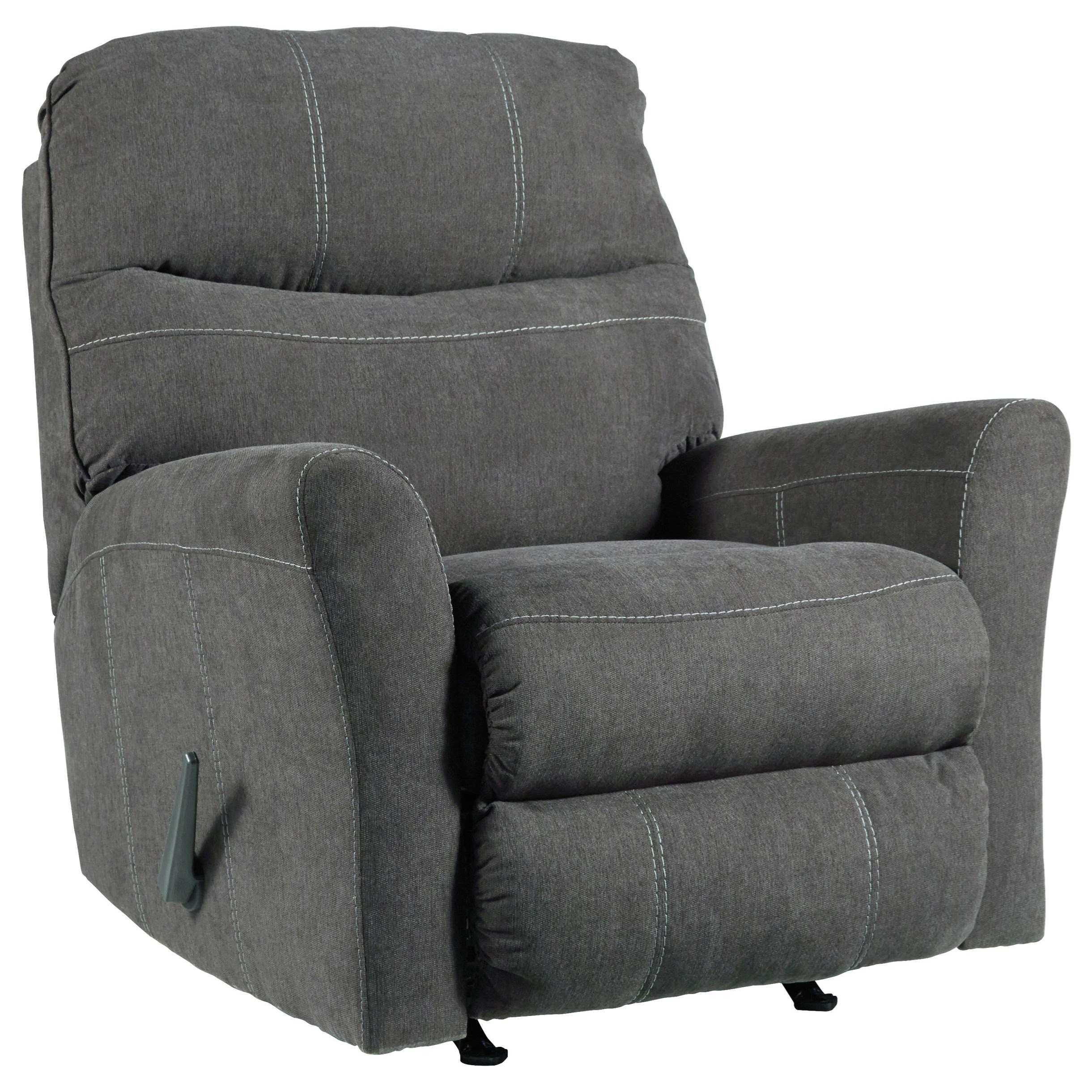 Maier - Charcoal Rocker Recliner by Benchcraft at Beck's Furniture