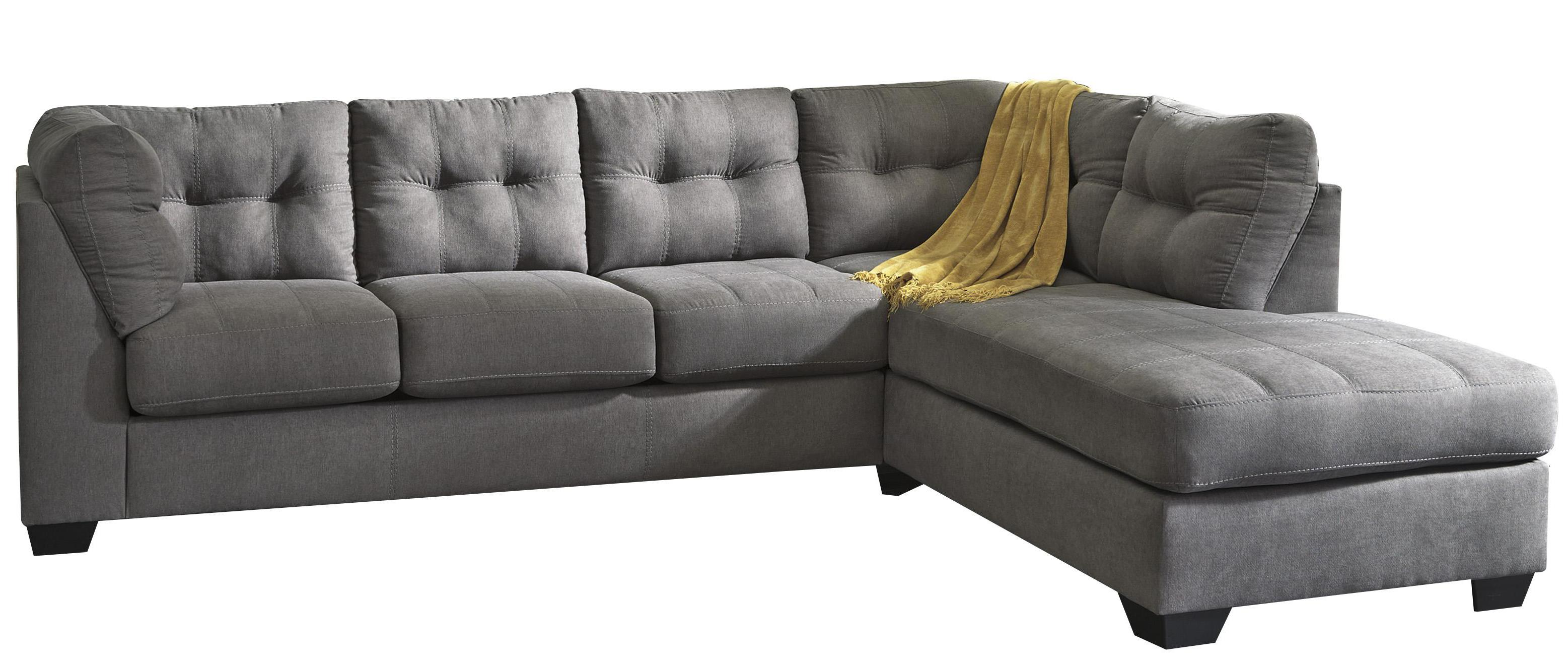 Malcolm - Charcoal 2-Piece Sectional with Right Chaise by Trendz at Ruby Gordon Home