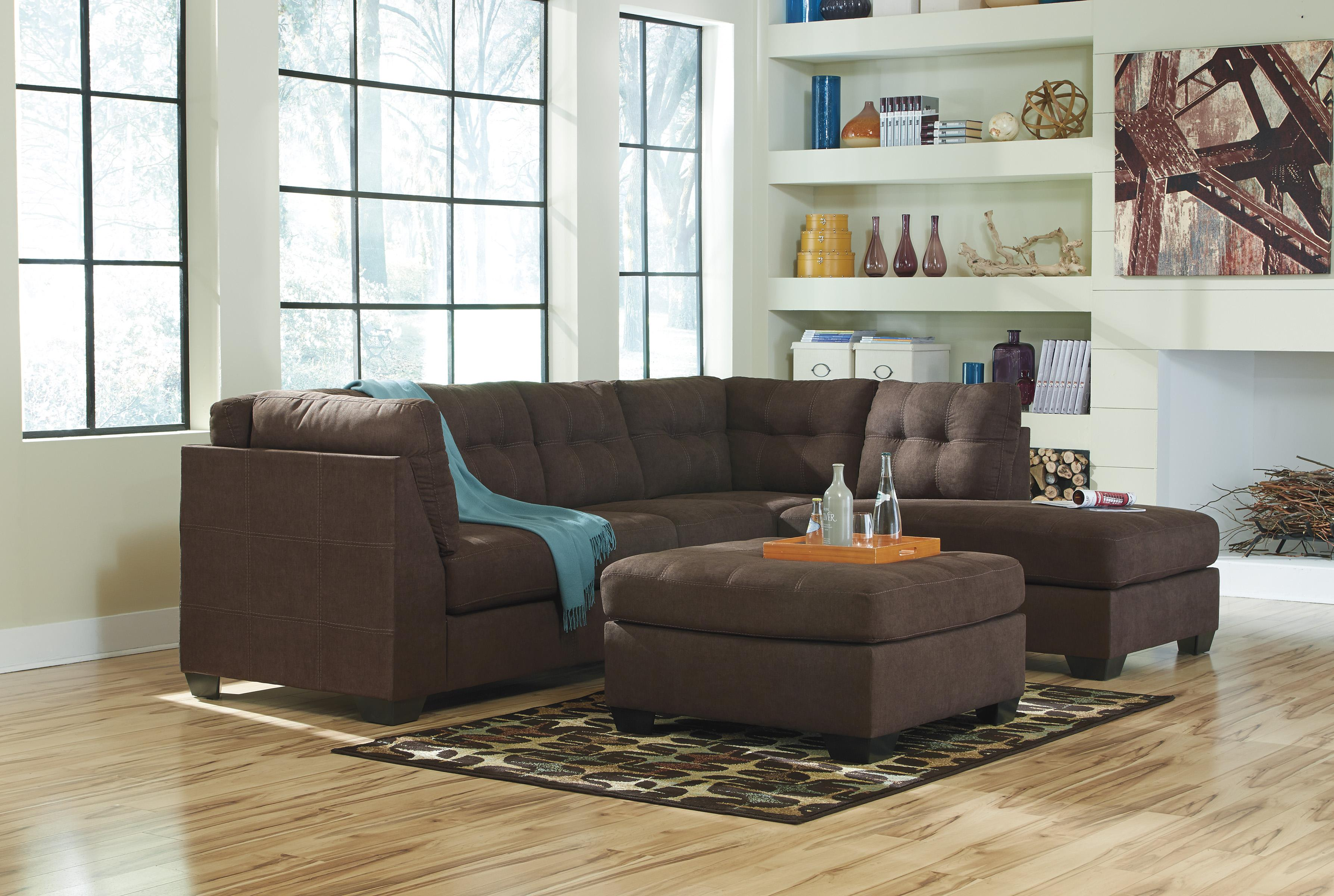 Maier - Walnut Stationary Living Room Group by Benchcraft at Northeast Factory Direct