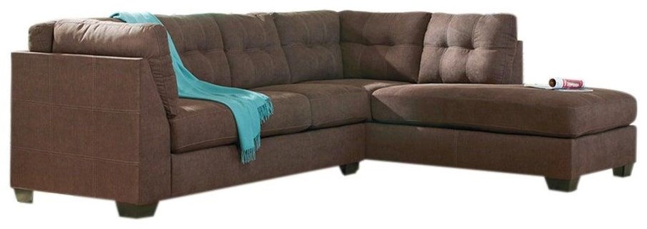 Maier - Walnut 2-Piece Sectional w/ Sleeper Sofa & Chaise by Benchcraft at Value City Furniture