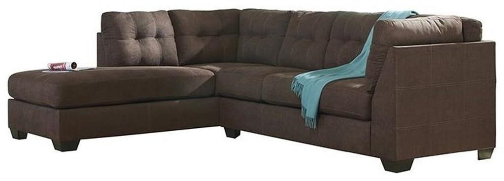 Maier - Walnut 2-Piece Sectional with Left Chaise by Benchcraft at Value City Furniture