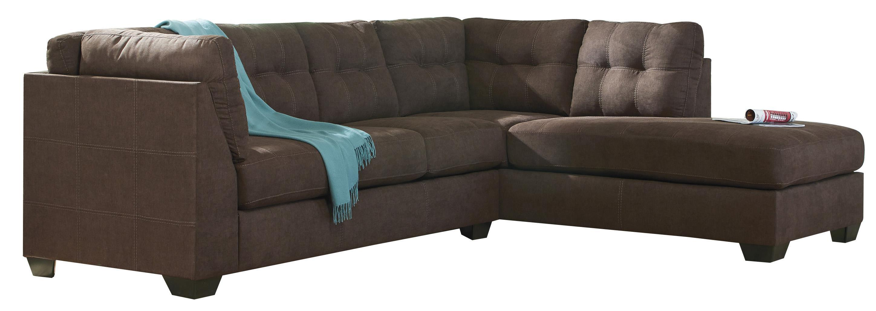 Malcolm - Walnut 2-Piece Sectional with Right Chaise by Trendz at Ruby Gordon Home