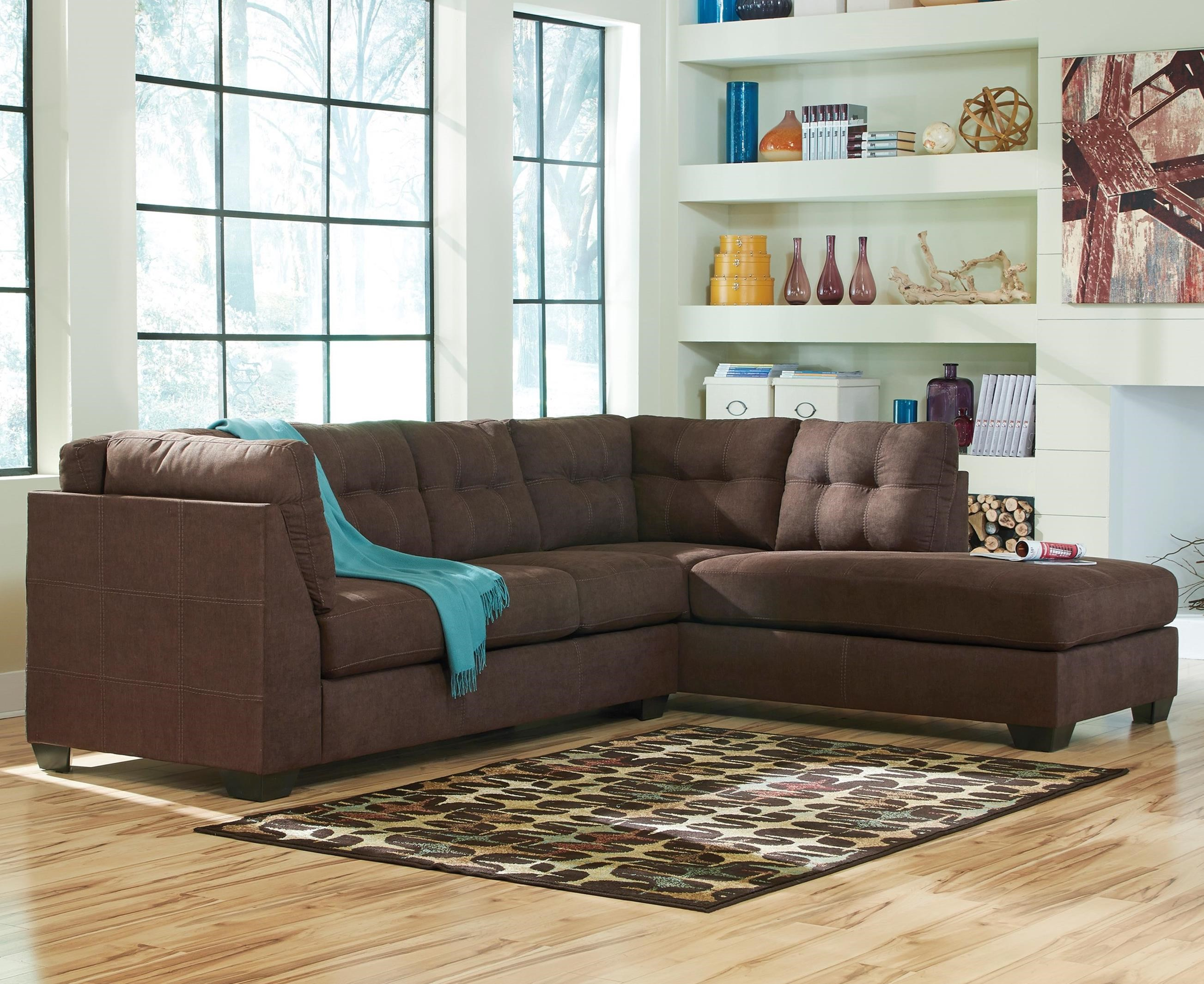 Maier 2-Piece Sectional with Chaise by Benchcraft at Miller Waldrop Furniture and Decor