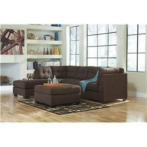 2-Piece Sectional with Chaise And Ottoman
