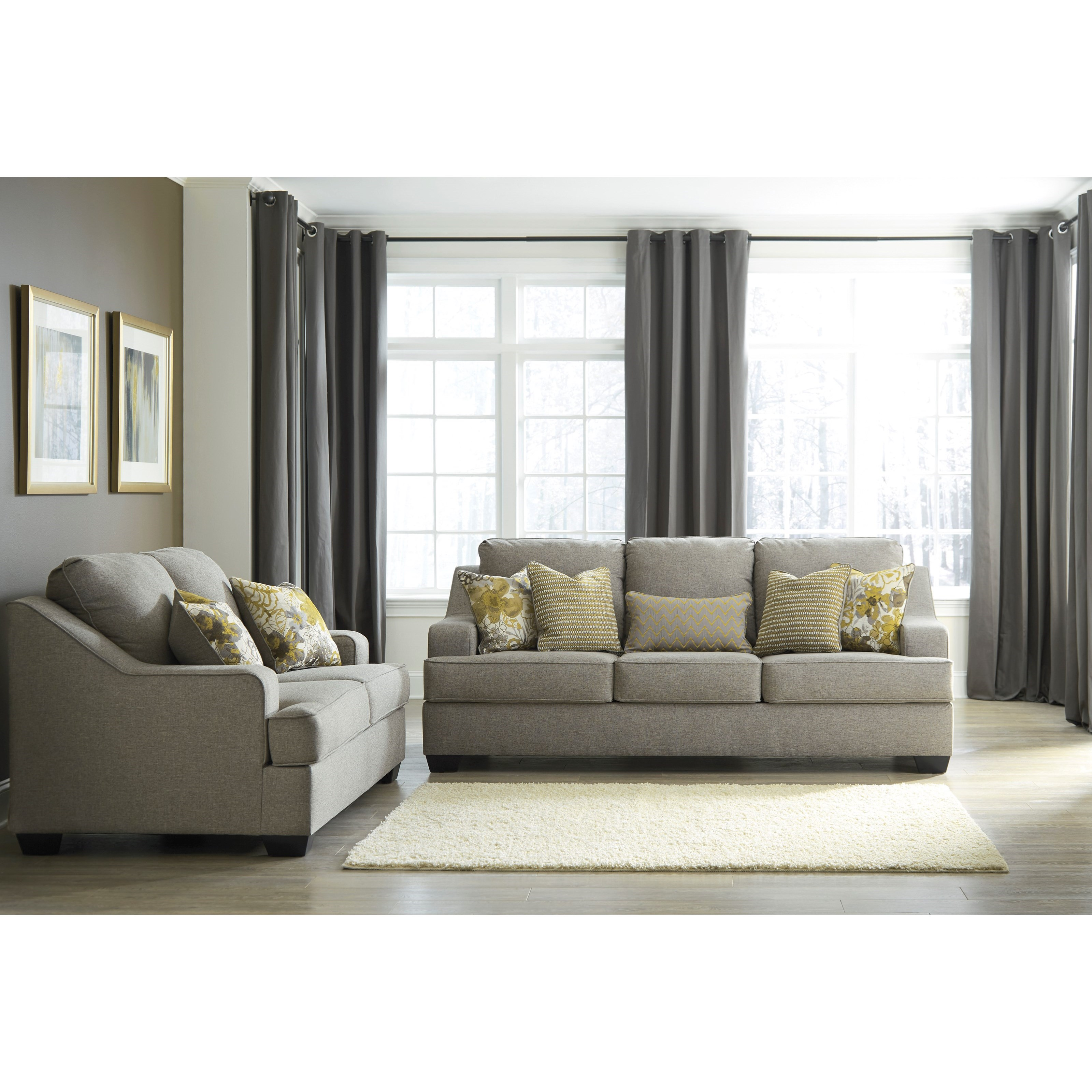 Mandee Stationary Living Room Group by Benchcraft at Household Furniture