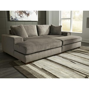 Contemporary 3-Piece Sectional with Ottoman