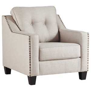 Contemporary Chair with Nailhead Trim