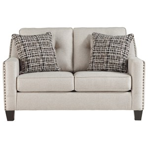 Contemporary Loveseat with Nailhead Trim