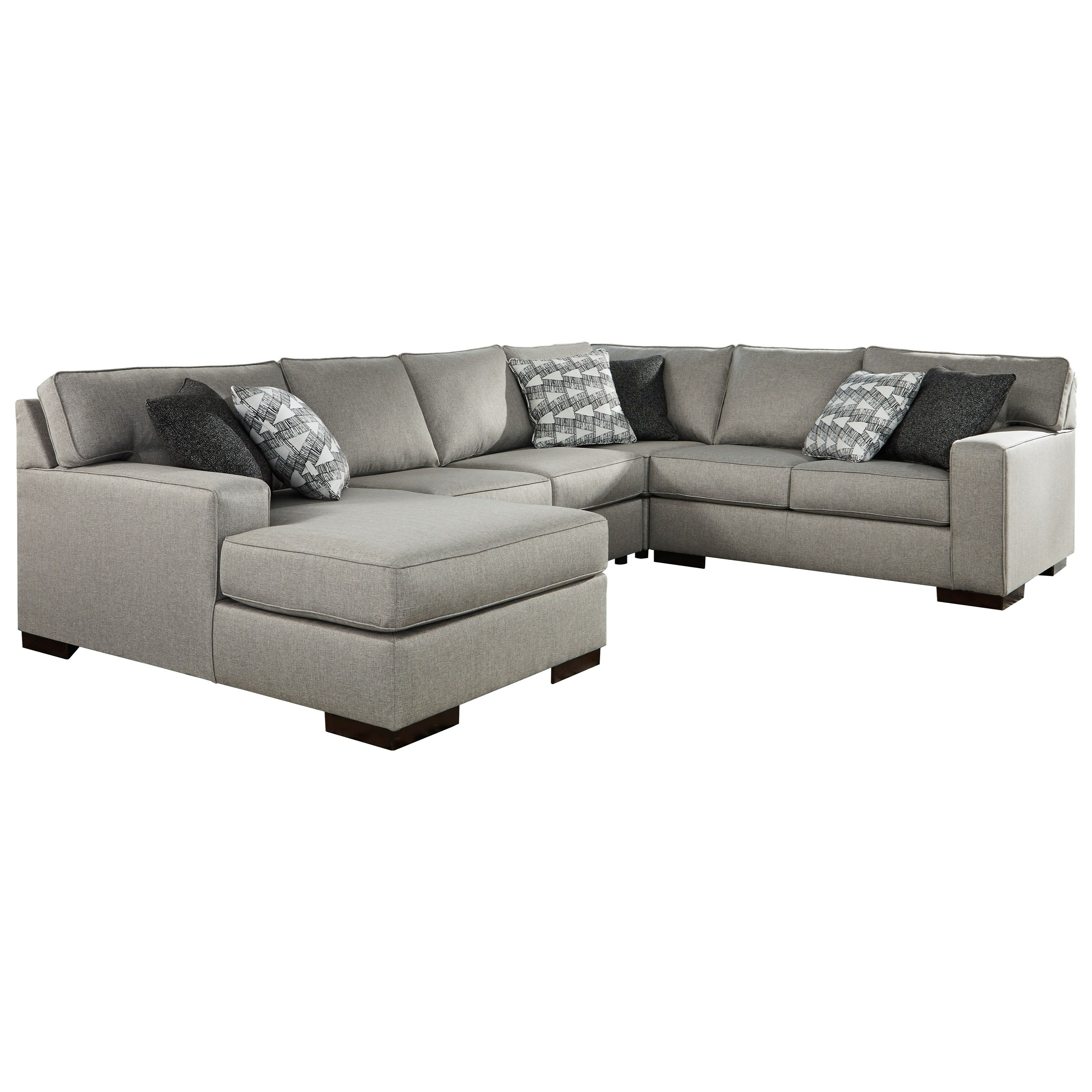 Marsing Nuvella 4-Piece Sectional with Chaise by Benchcraft at HomeWorld Furniture