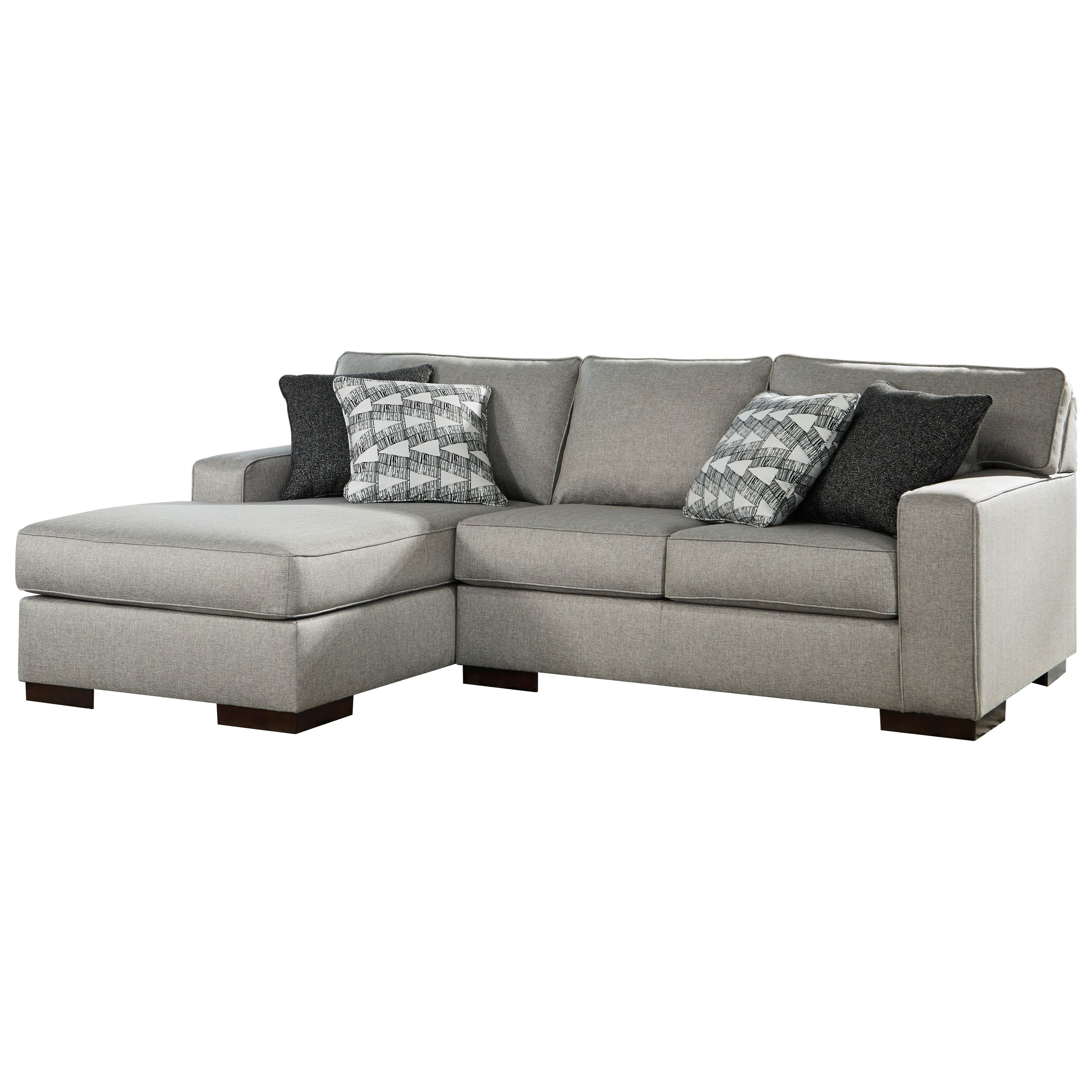 Marsing Nuvella 2-Piece Sectional with Chaise by Benchcraft at Walker's Furniture