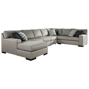 5-Piece Sectional with Chaise & Sleeper
