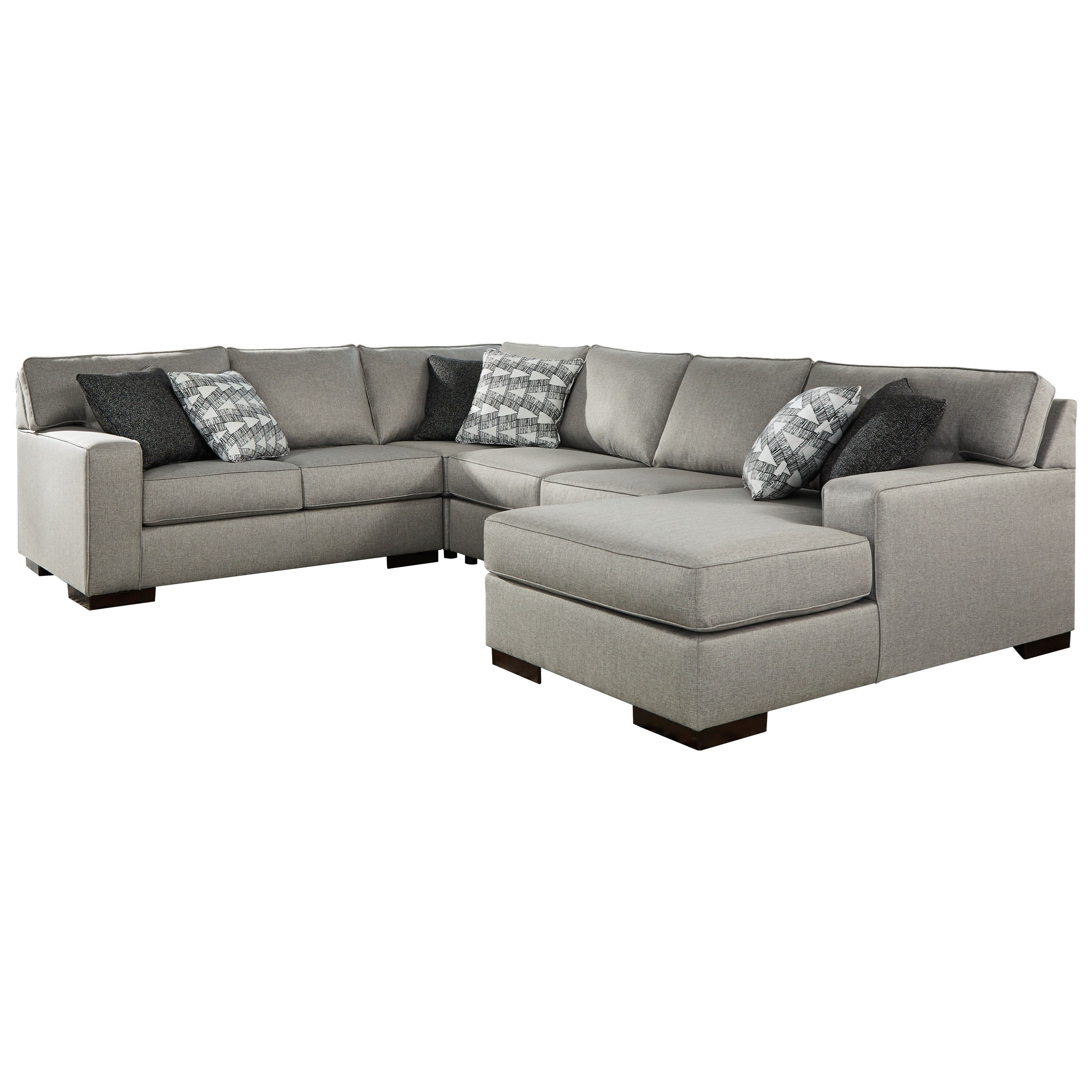Marsing Nuvella 4-Piece Sectional with Chaise by Benchcraft at Walker's Furniture