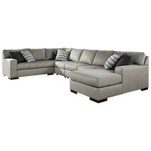 5-Piece Sectional with Chaise