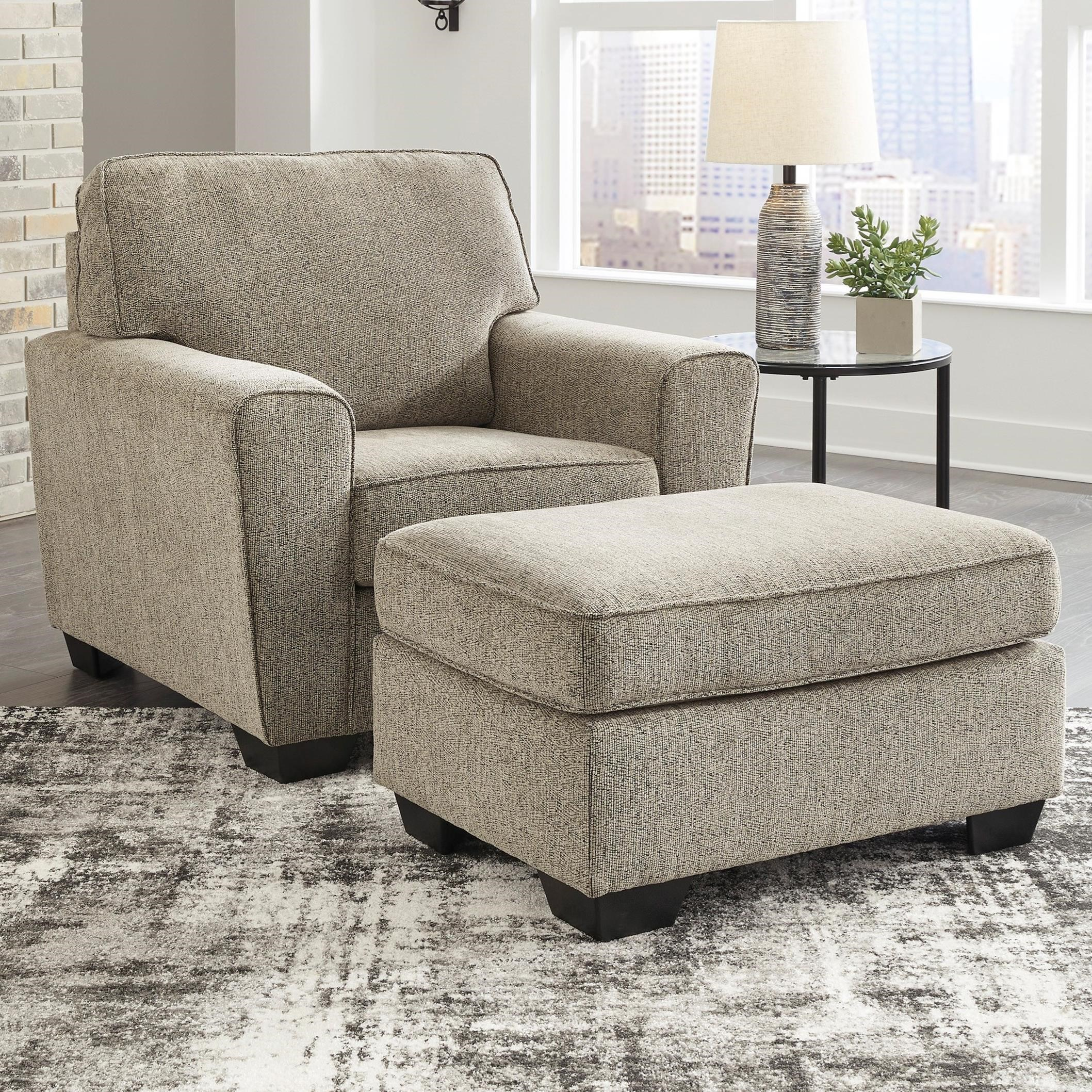 McCluer Chair & Ottoman by Benchcraft at Walker's Furniture
