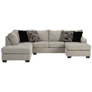 U-Shaped Sectional with Two Chaises
