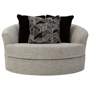 Contemporary Oversized Round Swivel Chair