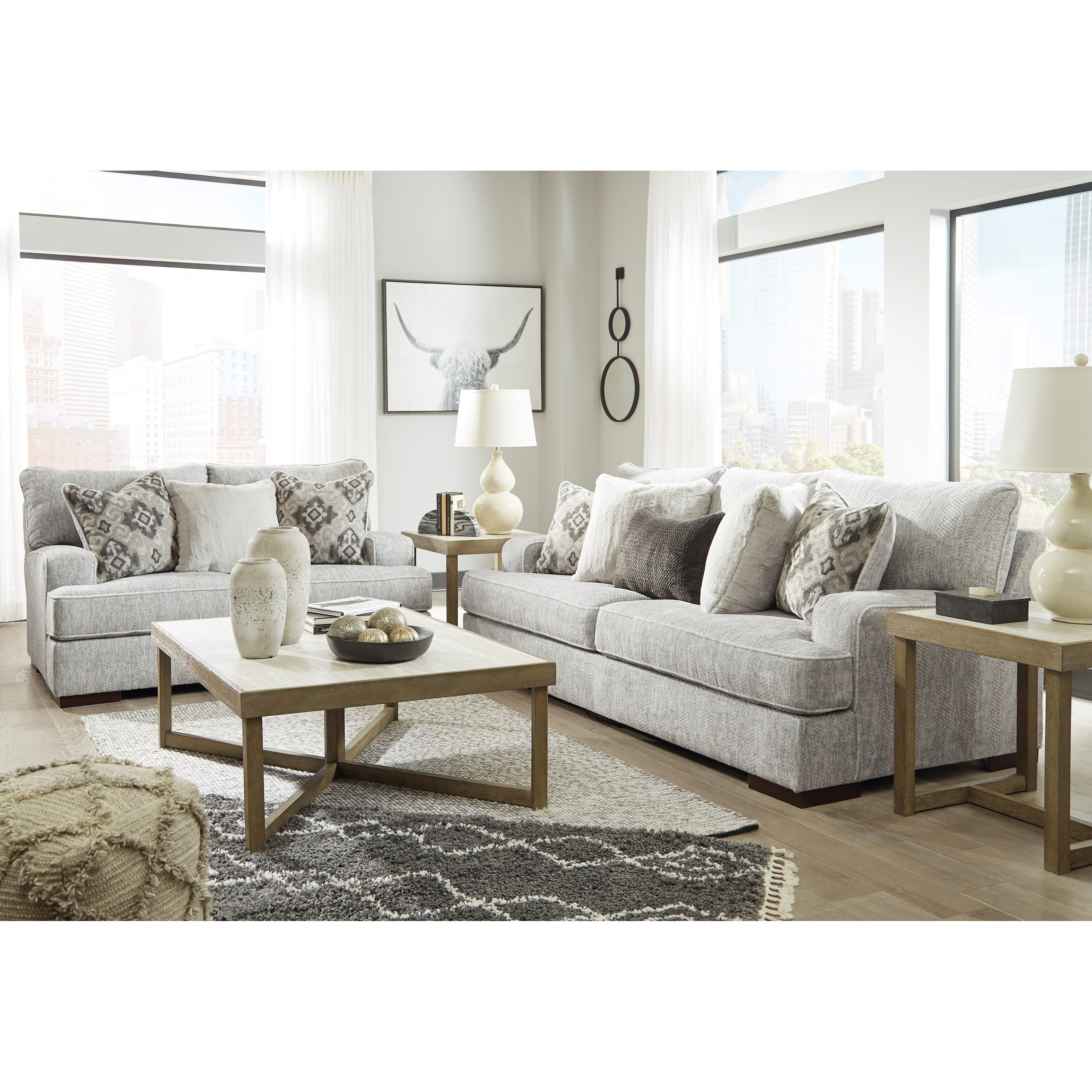 Mercado Stationary Living Room Group by Benchcraft at Lindy's Furniture Company