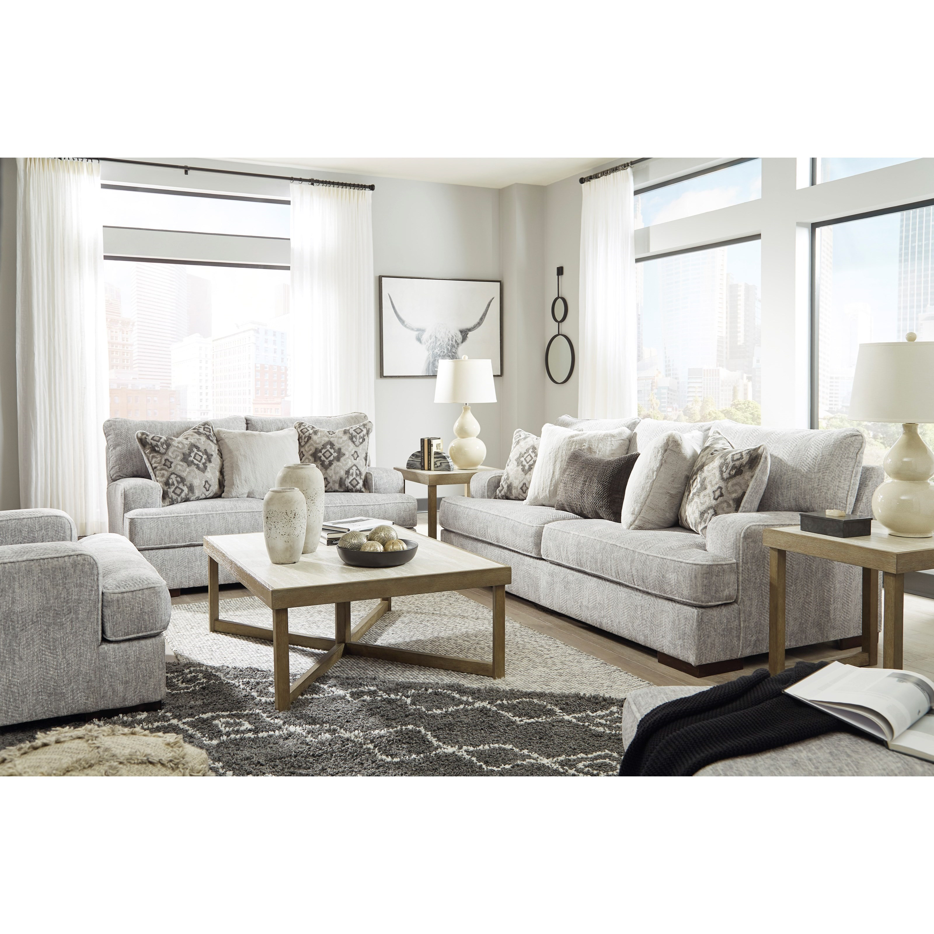 Mercado 3pc reclining living room group by Benchcraft at Value City Furniture
