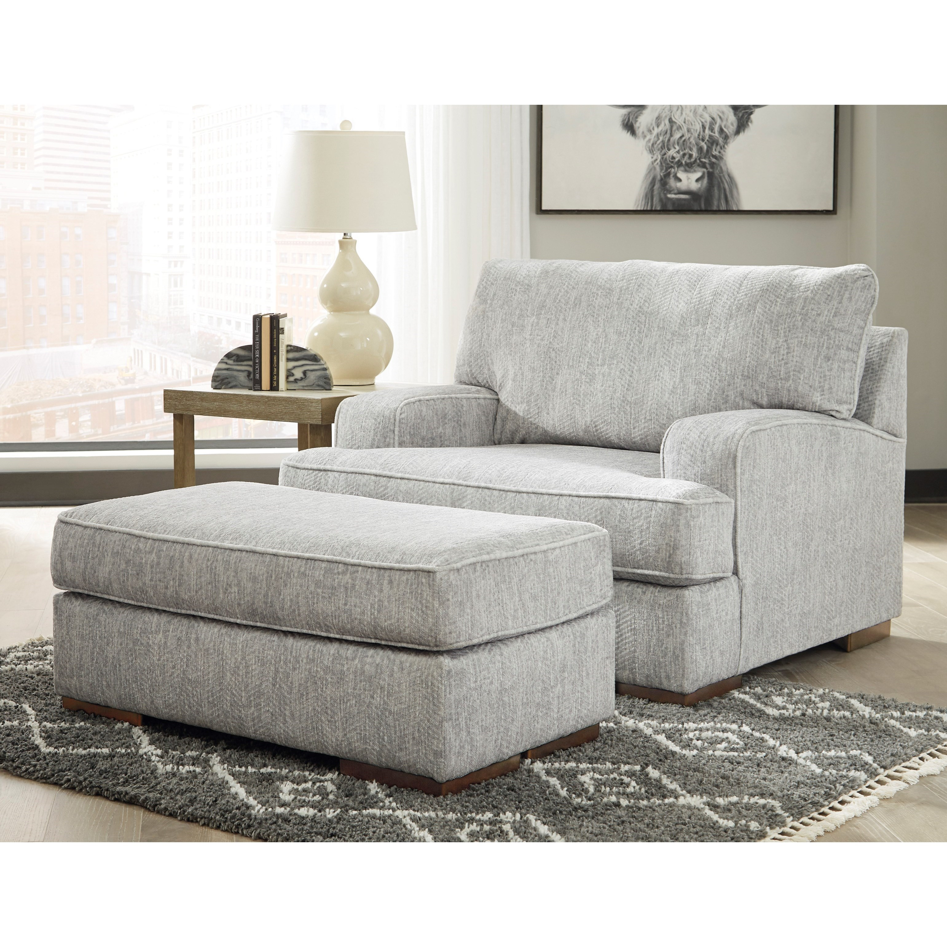 Mercado Chair and Ottoman Set by Benchcraft at Walker's Furniture